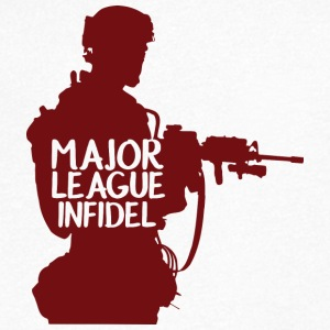 Militär / Soldier: Major League Infidel - T-shirt med v-ringning herr