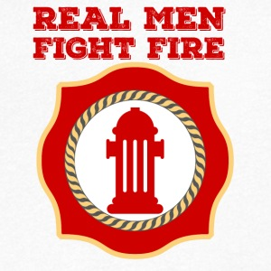Brandweer: Real Men Fight Fire - Mannen T-shirt met V-hals