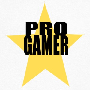 Pro gamers with star - Men's V-Neck T-Shirt
