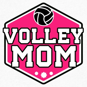 volleyball Mom - T-skjorte med V-utsnitt for menn