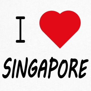 I Love Singapore - Men's V-Neck T-Shirt
