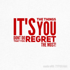 You regret the things you don't do! - Men's V-Neck T-Shirt