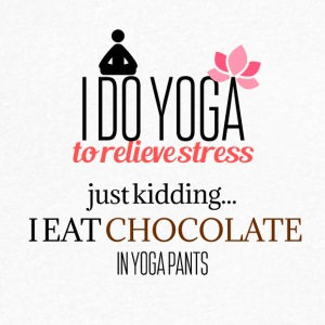 I do Yoga to relieve stress - Men's V-Neck T-Shirt