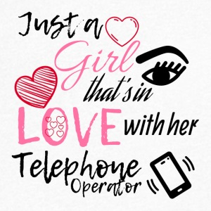 A girl who is in love with her telephone operator - Men's V-Neck T-Shirt