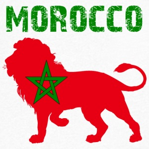 MAROKKO MOROCCO MAROC المغرب LEON - Men's V-Neck T-Shirt