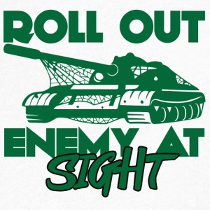 Military / Soldier: Roll Out Enemy At Sight - T-skjorte med V-utsnitt for menn