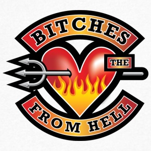 Bitches from Hell - Men's V-Neck T-Shirt