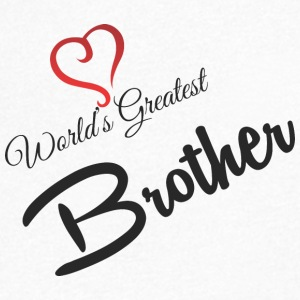 WORLDS GREATEST BROTHER - Men's V-Neck T-Shirt