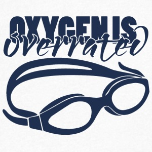 Swimming / swimmer: Oxygenis Overrated - Men's V-Neck T-Shirt