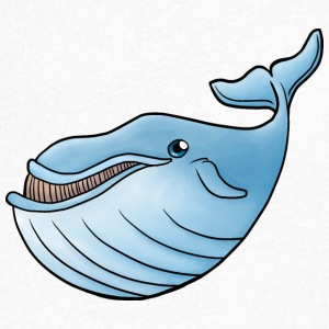 Little Blue Whale - T-shirt med v-ringning herr