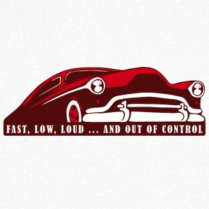 Kustom Car - Fast, Low, Loud ... And Out Of Contro - Männer T-Shirt mit V-Ausschnitt