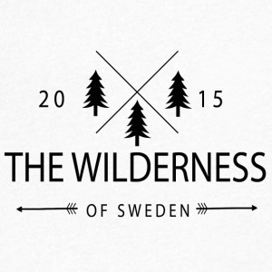 La Wilderness Of Sweden - Maglietta da uomo con scollo a V