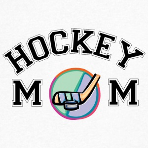 hockey Mom - T-shirt med v-ringning herr