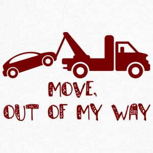 Trucker / Truck Driver: Move, out of my way. - Men's V-Neck T-Shirt