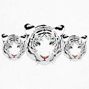 Tiger, white tiger, tiger trio - Men's V-Neck T-Shirt
