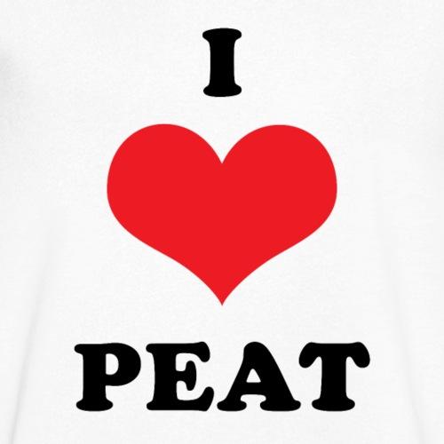 I love peat - Männer Bio-T-Shirt mit V-Ausschnitt von Stanley & Stella