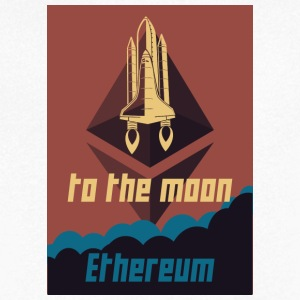 Ethereum to the moon - Men's V-Neck T-Shirt