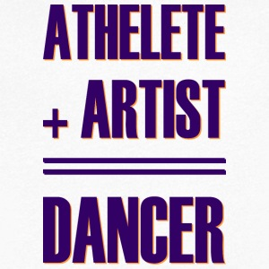 Athlete + artist = dancer - Men's V-Neck T-Shirt