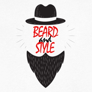 Beard and Style - T-skjorte med V-utsnitt for menn