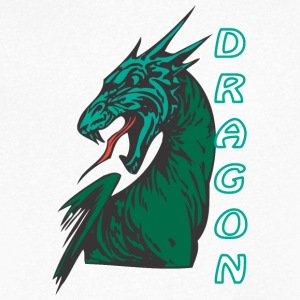 Angry dragon 2 color - Men's V-Neck T-Shirt