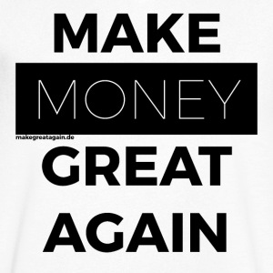MAKE MONEY GREAT IGEN sort - Herre T-shirt med V-udskæring