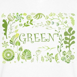 Go green - Men's V-Neck T-Shirt