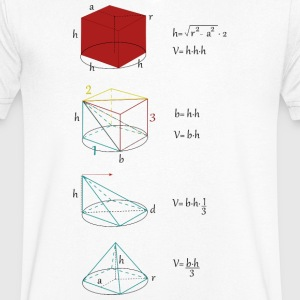 Mathman - Men's V-Neck T-Shirt