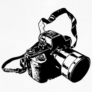 Photo Camera Collection - T-skjorte med V-utsnitt for menn