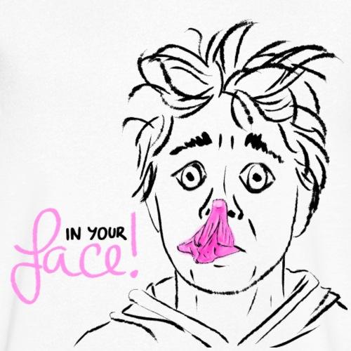 In your face - platzende Kaugummiblase - Männer Bio-T-Shirt mit V-Ausschnitt von Stanley & Stella