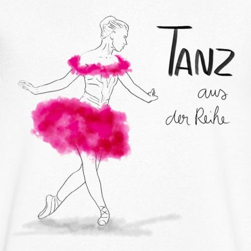 Ballerina mit rosa Tutu - Männer Bio-T-Shirt mit V-Ausschnitt von Stanley & Stella