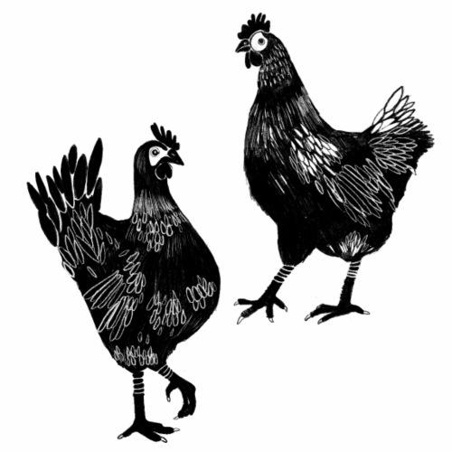 Hühner - Männer Bio-T-Shirt mit V-Ausschnitt von Stanley & Stella