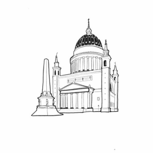 Nikolaikirche Potsdam - Männer Bio-T-Shirt mit V-Ausschnitt von Stanley & Stella