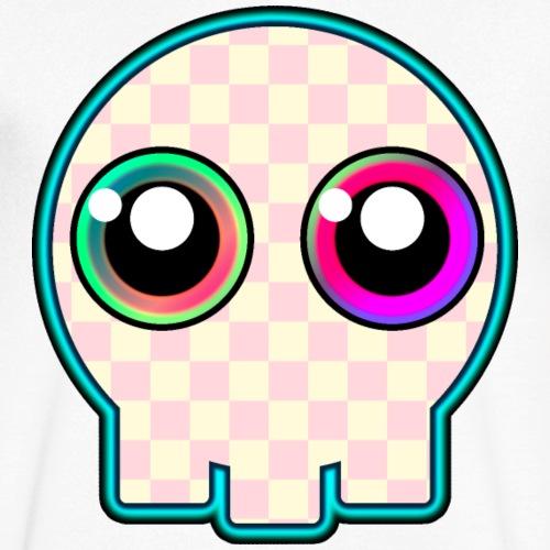 dödskalle rosa mycket söt tecknad stil - Men's Organic V-Neck T-Shirt by Stanley & Stella