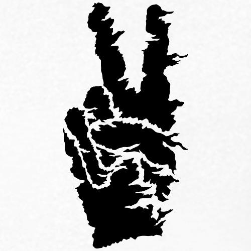 Peace sort - Økologisk Stanley & Stella T-shirt med V-udskæring til herrer