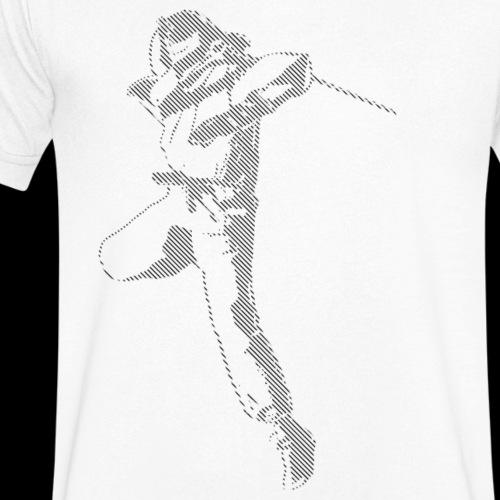 canniste lignes noir - T-shirt bio col V Stanley & Stella Homme