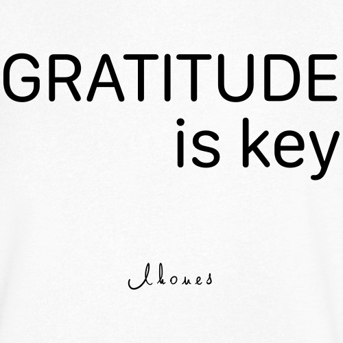 GRATITUDE is key - Men's Organic V-Neck T-Shirt by Stanley & Stella