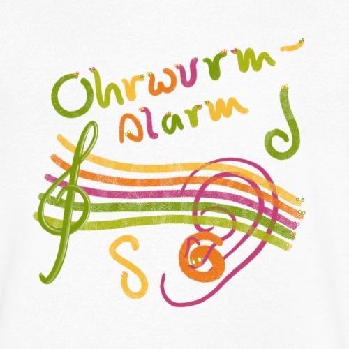 Ohrwurm Alarm Musiknoten und Würmer