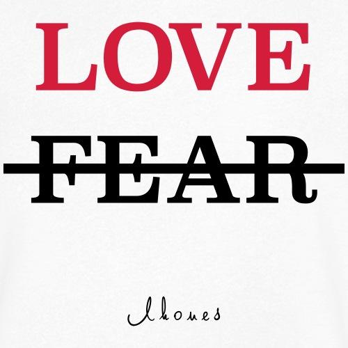 LOVE NOT FEAR - Men's Organic V-Neck T-Shirt by Stanley & Stella
