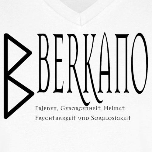 Runen - Berkano - Schriftzug Schwarz - Männer Bio-T-Shirt mit V-Ausschnitt von Stanley & Stella