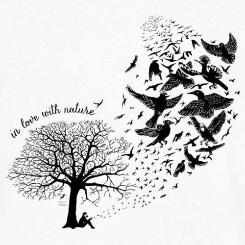 in love with nature - Resonanz - schwarz - Männer Bio-T-Shirt mit V-Ausschnitt von Stanley & Stella