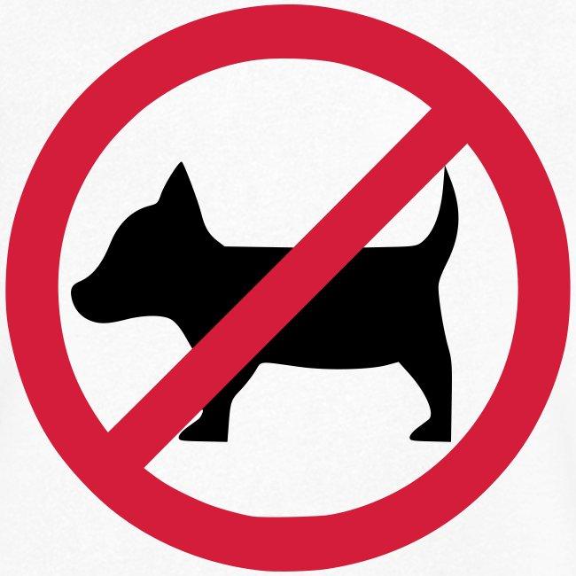 No dogs! - Anti-Hunde-Shirt