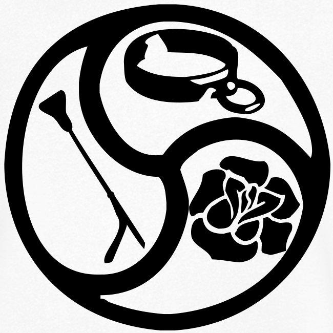 Triskele triskelion BDSM Emblem HiRes 1 color