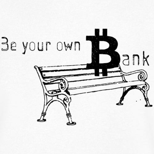 Bitcoin Bank - Männer Bio-T-Shirt mit V-Ausschnitt von Stanley & Stella