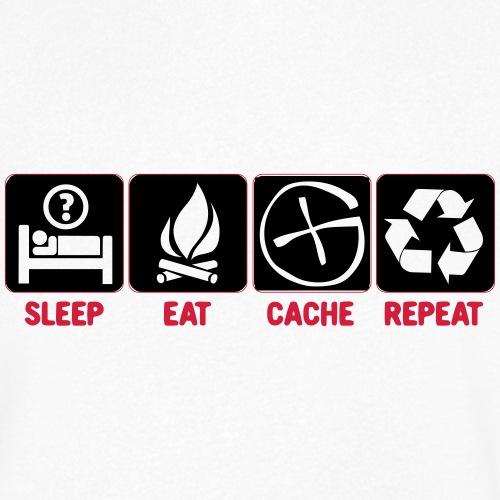 Sleep, Eat, Cache, Repeat - Männer Bio-T-Shirt mit V-Ausschnitt von Stanley & Stella