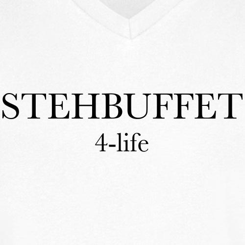 Stehbuffet weiß - Männer Bio-T-Shirt mit V-Ausschnitt von Stanley & Stella