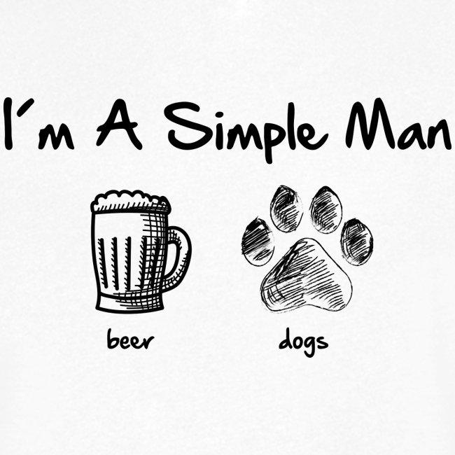 Vorschau: simple man dogs beer - Männer Bio-T-Shirt mit V-Ausschnitt von Stanley & Stella