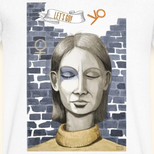 Emanzipation2020 - Let's go! - Resonanz - Männer Bio-T-Shirt mit V-Ausschnitt von Stanley & Stella