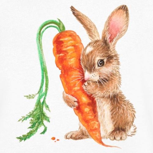 konijntje met wortel - Men's Organic V-Neck T-Shirt by Stanley & Stella