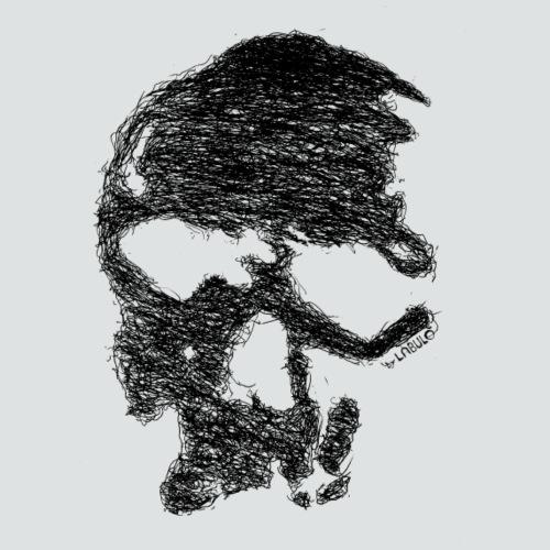 Skull png - Männer Bio-T-Shirt mit V-Ausschnitt von Stanley & Stella