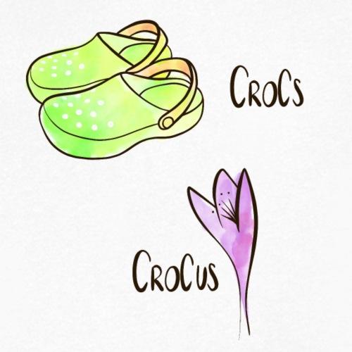 Crocs und Crocus - Männer Bio-T-Shirt mit V-Ausschnitt von Stanley & Stella
